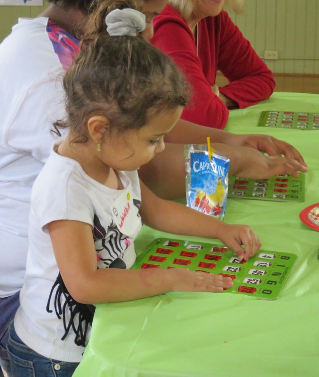 Never too young to play Bingo